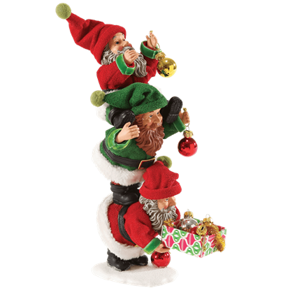 Three Elves - Christmas Figurine by Possible Dreams
