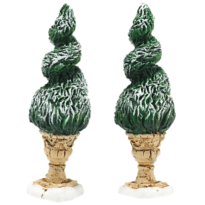 Tudor Gardens Spiral Shrubs - Village Landscapes and Trees by Department 56
