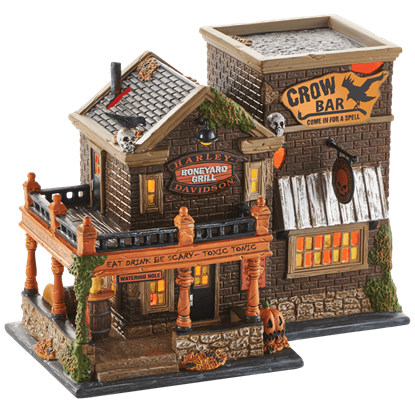 Harley Crow Bar - Halloween Village by Department 56