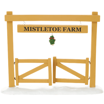 Mistletoe Farm Gate - Village Walls, Fences, and Streets by Department 56