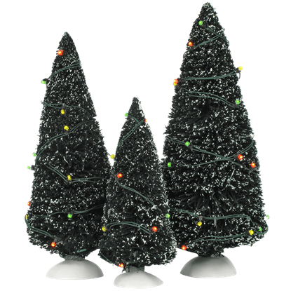 Twinkling Lit Green Trees - Village Landscapes and Trees by Department 56
