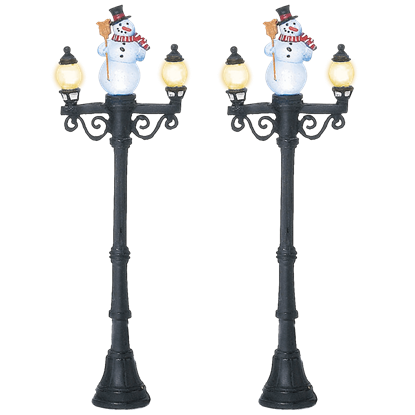 Snowman Street Lights - Village Lighting by Department 56