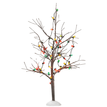 Lighted Christmas Bare Branch Tree - Village Landscapes and Trees by Department 56