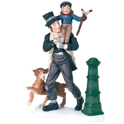 Bob Cratchit and Tiny Tim - Dickens A Christmas Carol by Department 56