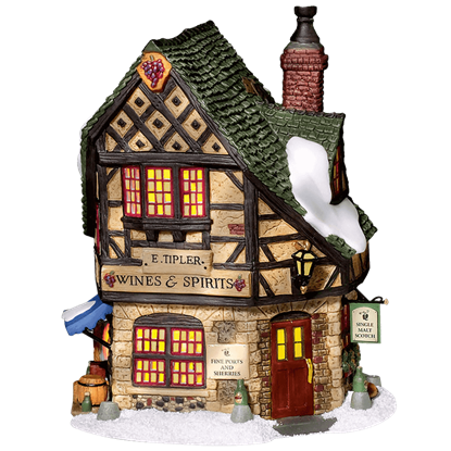 E Tipler Agent Wine and Spirits - Dickens Village by Department 56
