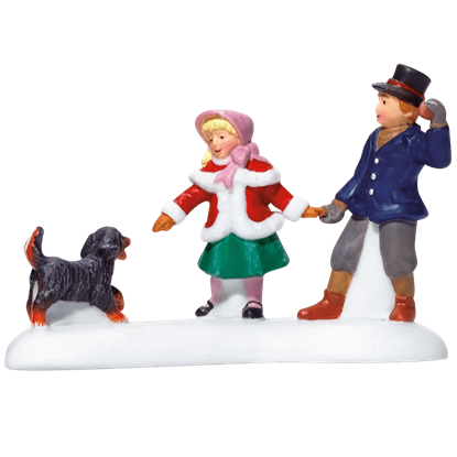 Playing With A Puppy - Dickens Village by Department 56