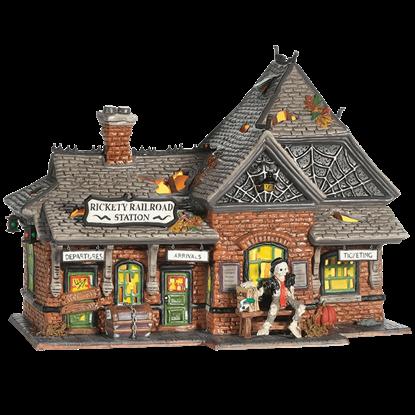 Rickety Railroad Station - Halloween Village by Department 56