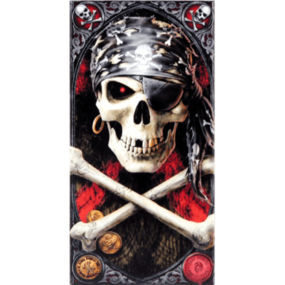 Pirate Skull Ceramic Art Tile by Anne Stokes