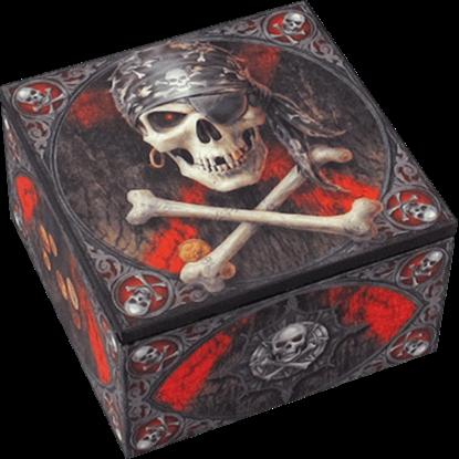 Pirate Skull Designer Box by Anne Stokes