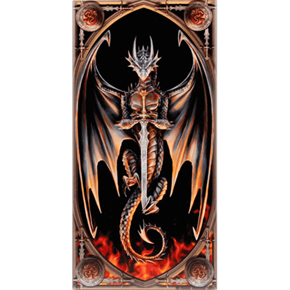 Dragon Warrior Ceramic Art Tile by Anne Stokes