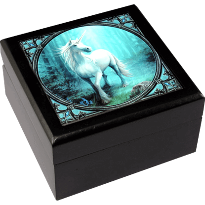 Forest Unicorn Tile Box