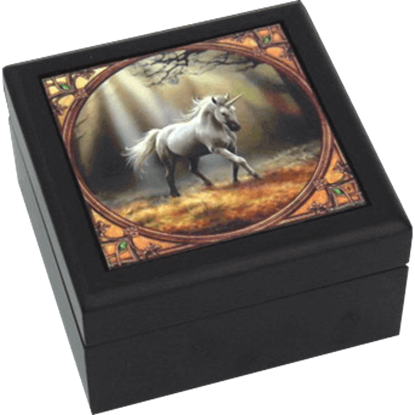 Glimpse of a Unicorn Tile Box