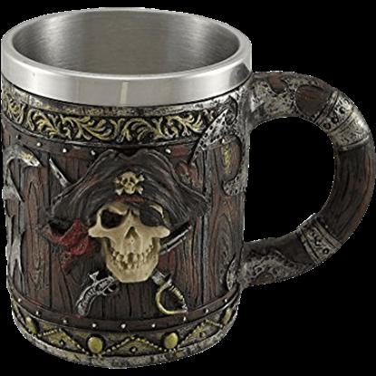 Pirate Captain Skull Tankard
