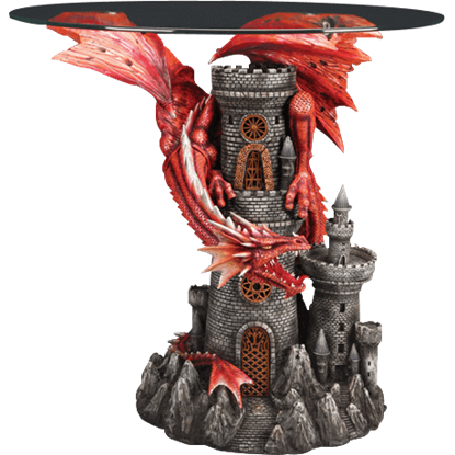 Red Dragon and Castle Table