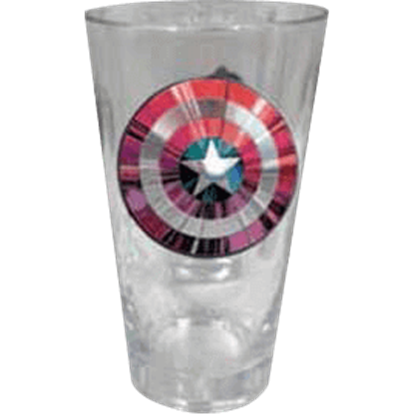 Captain America Shield Drinking Glass