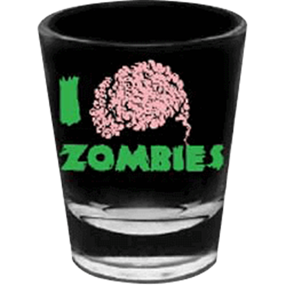 I love Zombies Shot Glass