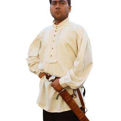Buttoned Swordsman Shirt