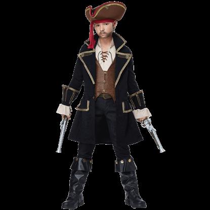 Boys Deluxe Pirate Captain Costume