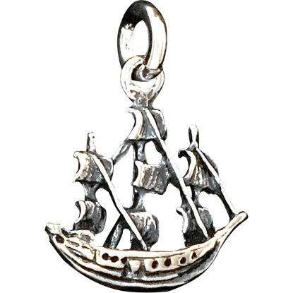 Double-Sided Sailing Ship Pendant