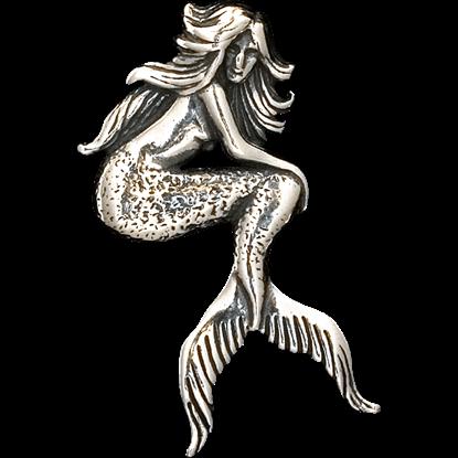 Seated Mermaid Pendant