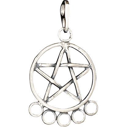 Pentacle Charm Holder Pendant