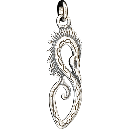 Double-Sided Celtic Dragon Pendant
