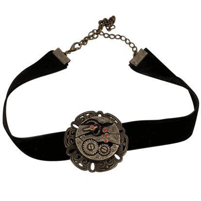 Black Steampunk Gear Choker