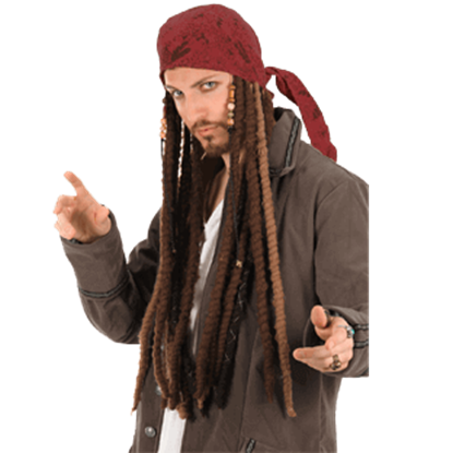Jack Sparrow Scarf with Dreads