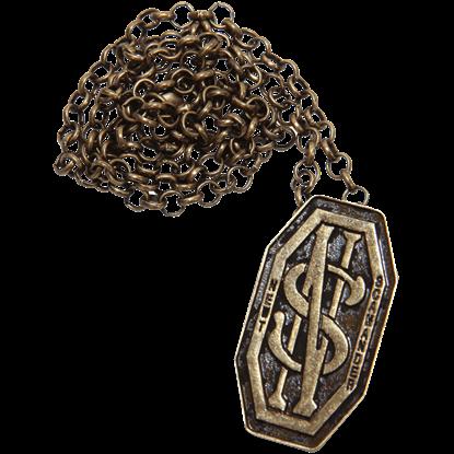 Newt Scamander Monogram Necklace Pin