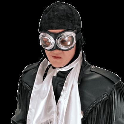 Black Aviator Cap