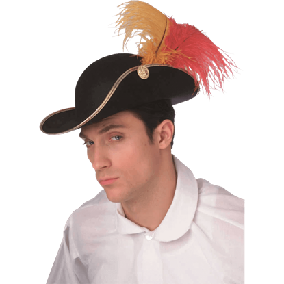 Feathered Costume Cavalier Hat