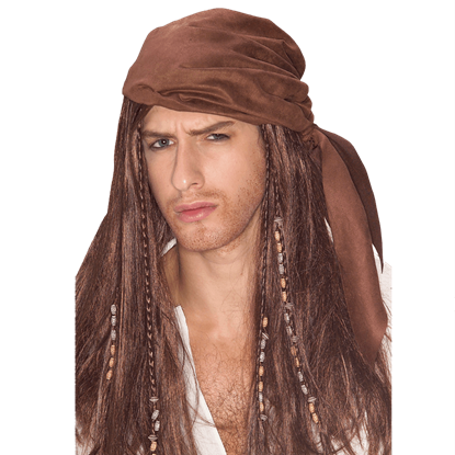 Caribbean Pirate Captain Wig