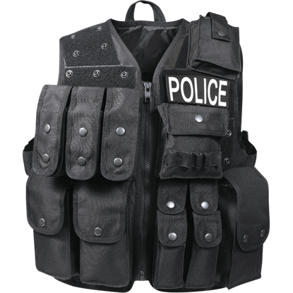 Black Tactical Raid Vest