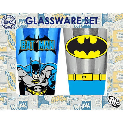 Batman Two Piece Glassware Set