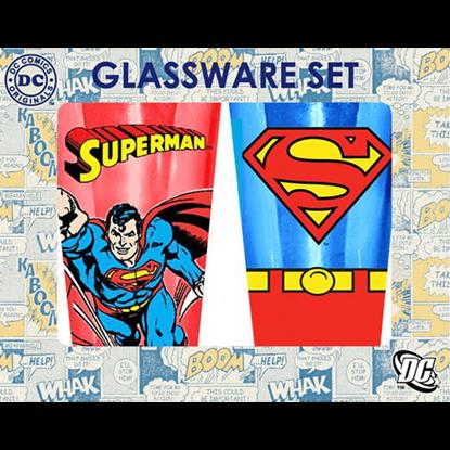 Superman Two Piece Glassware Set