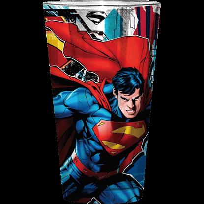 Superman Intense Stare Pub Glass