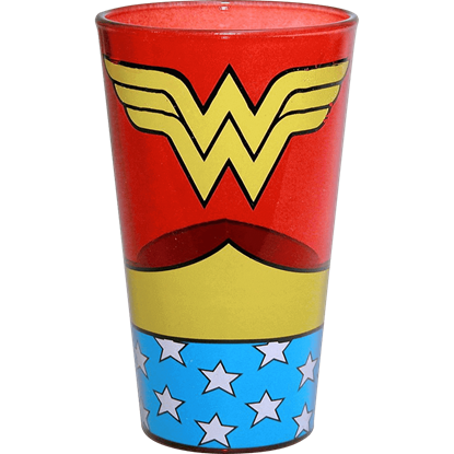 Wonder Woman Uniform Pint Glass