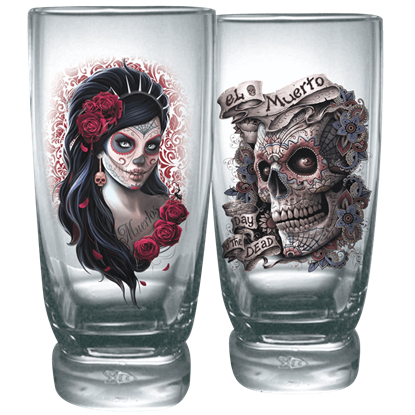 Day of the Dead Water Glass Set