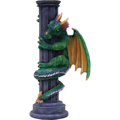 Colorful Dragon Candle Holder