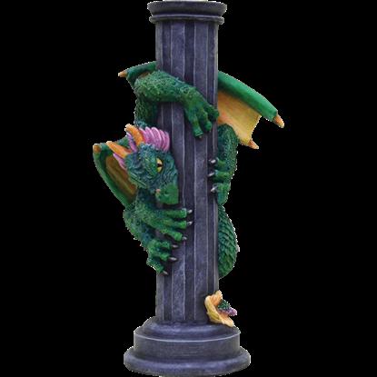 Dragon on Pillar Candle Holder