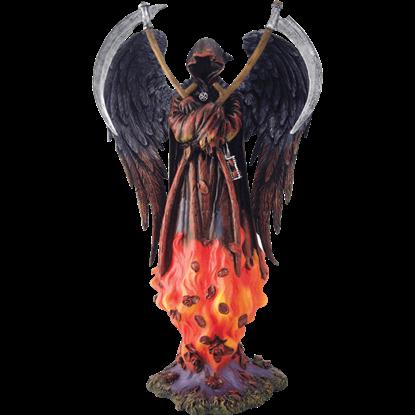 Flaming Reaper Statue