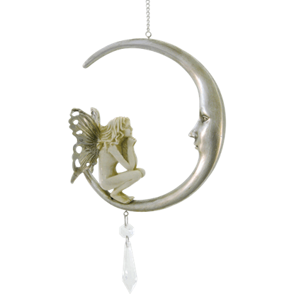 Crescent Moon Fairy Ornament