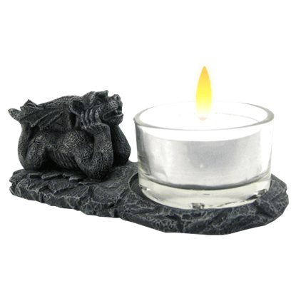 Daydreaming Gargoyle Tea Light Holder