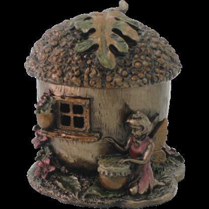 Fairy Acorn House Trinket Box