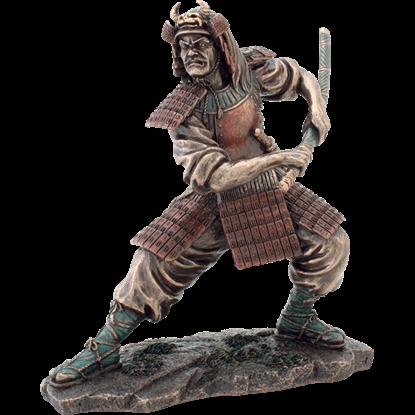 Battle-Ready Samurai Statue