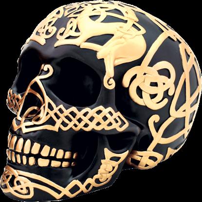 Black and Gold Celtic Skull