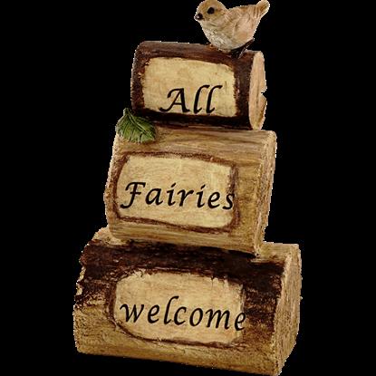 All Fairies Welcome Fairy Garden Cairn