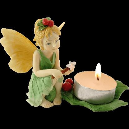 Holly Fairy Tea Light Holder