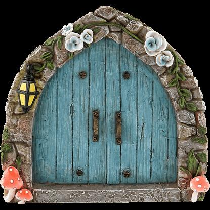 Blue Cobblestone Fairy Door