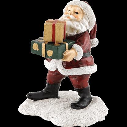 Christmas Village Santa Visit Statue